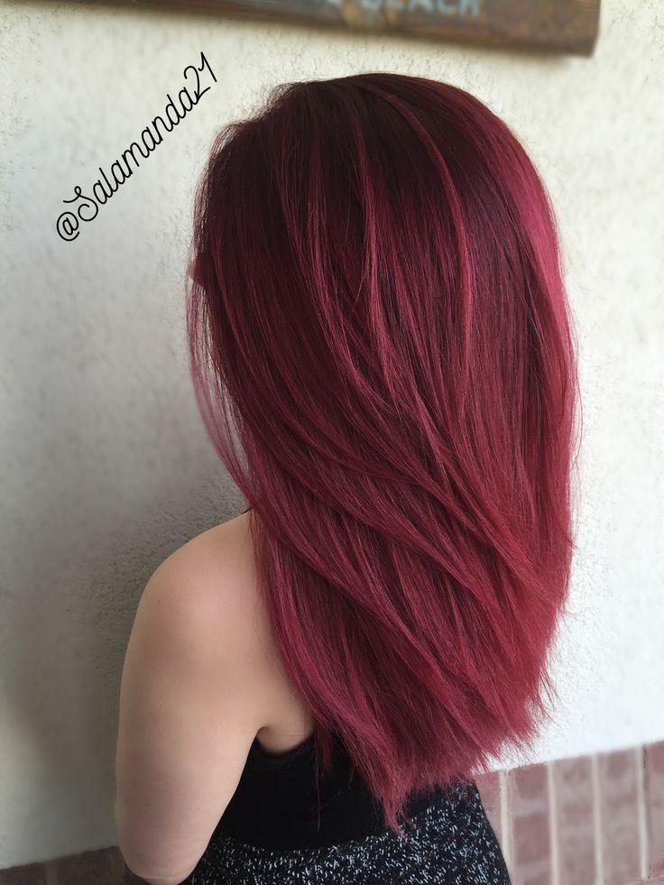 deep wine red hair done by Manda Heath  @salamanda21                                                                                                                                                                                 More
