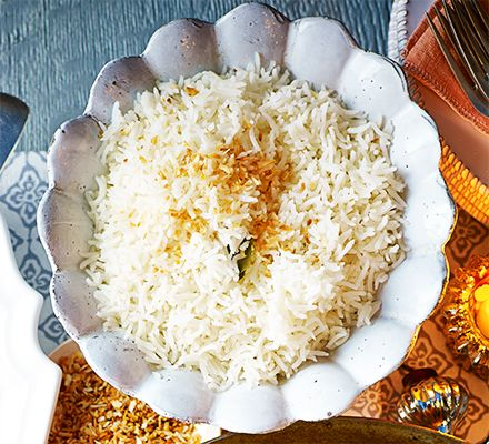 Create a fragrant side dish by using Thai rice, coconut and fresh lime leaves for a citrus kick. It's great with curries