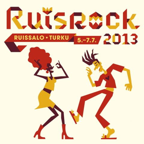 Illustrations and visual identity by Ilja Karsikas for Ruisrock, 2013