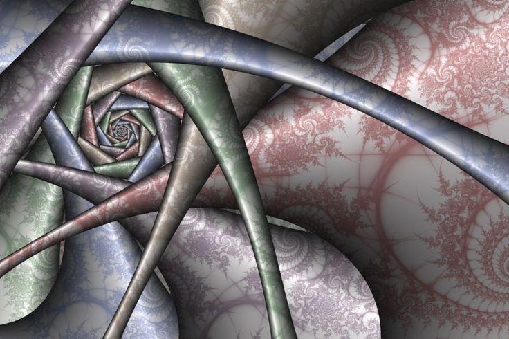 Circle orbit trap fractal by Ross Hilbert at fractalsciencekit.com