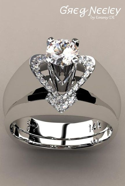 "Brilliant Luxury by Emmy DE * Greg Neeley ""V"" Top Princess Engagement Set"