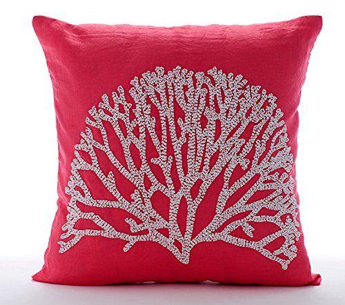 Handmade Coral Pillow Cases, Beaded Tree Pillows Cover, P... https://www.amazon.com/dp/B016H8W74U/ref=cm_sw_r_pi_dp_x_hMCazb70JSSMB