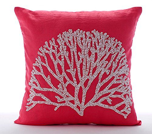 Handmade Coral Pillow Cases, Beaded Tree Pillows Cover, P... https://www.amazon.com/dp/B016H8W74U/ref=cm_sw_r_pi_dp_x_H0lbyb98TWH7Z