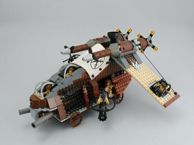 lego steampunk | Lego Steampunk version of the Republic Gunship