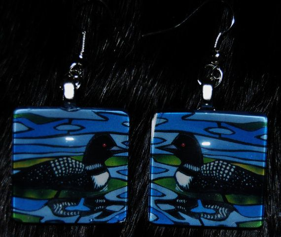 Northern Loon mounted behind glass by KabloonaKreations on Etsy, $13.00
