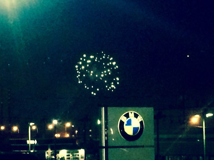 On the rooftop of Our MINI dealership! Watching the fireworks!! #HeidiOMary #2015 #MINI #AnchorageAlaska