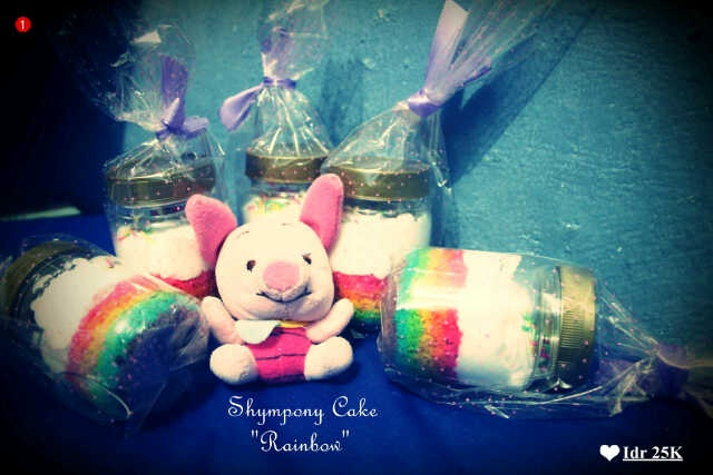 Rainbow Cake in jar only 25k!!!