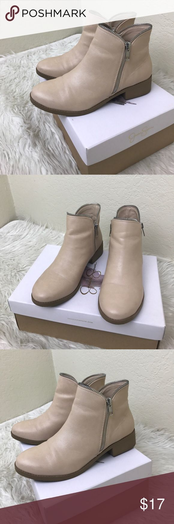 Charlotte Russe boots Nude boots in perfect condition. charlotte russe Shoes Ankle Boots & Booties