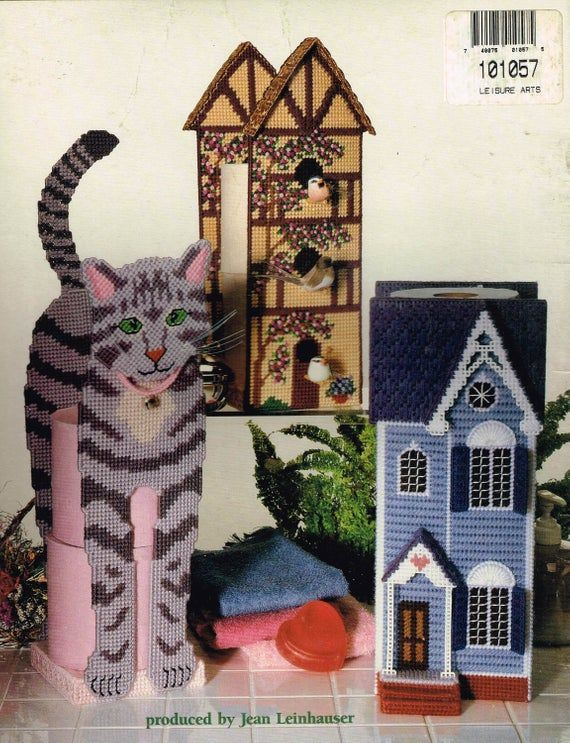Cat Or Seahorse Toilet Paper Holder Plastic Canvas Pattern