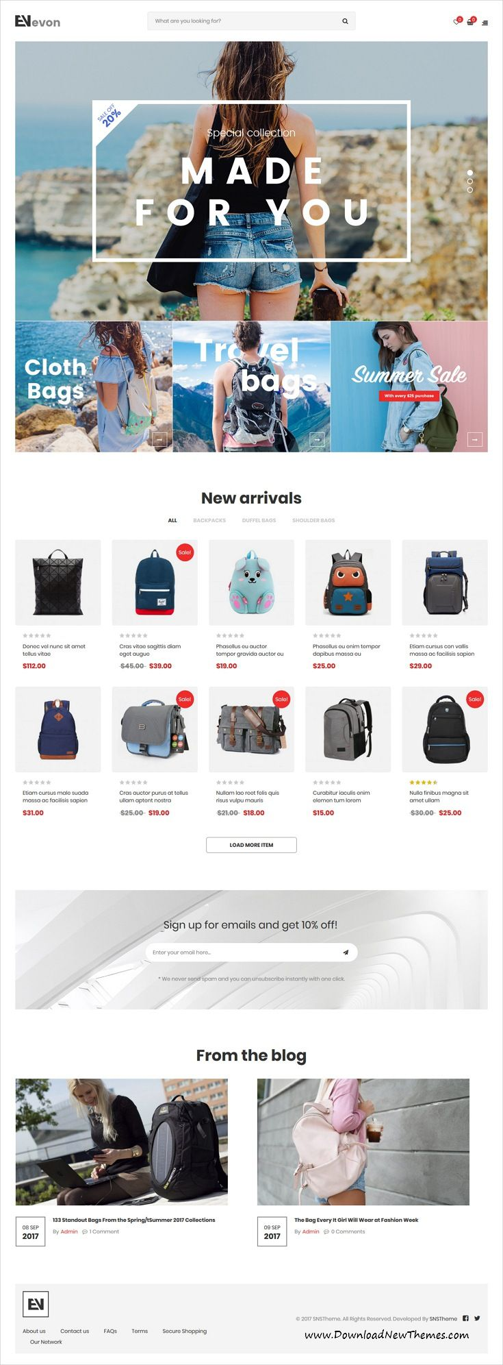 Evon is clean, stylish and modern design 12+ responsive WooCommerce WordPress #template for stunning #onlineshopping eCommerce #website to live preview & download click on image or Visit