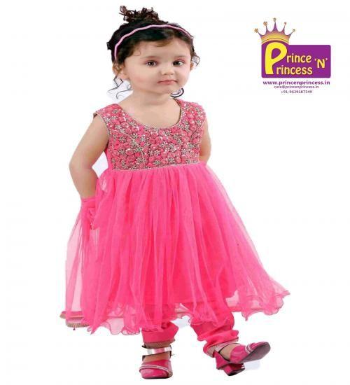 Toddler Cute Pink Chudidhar