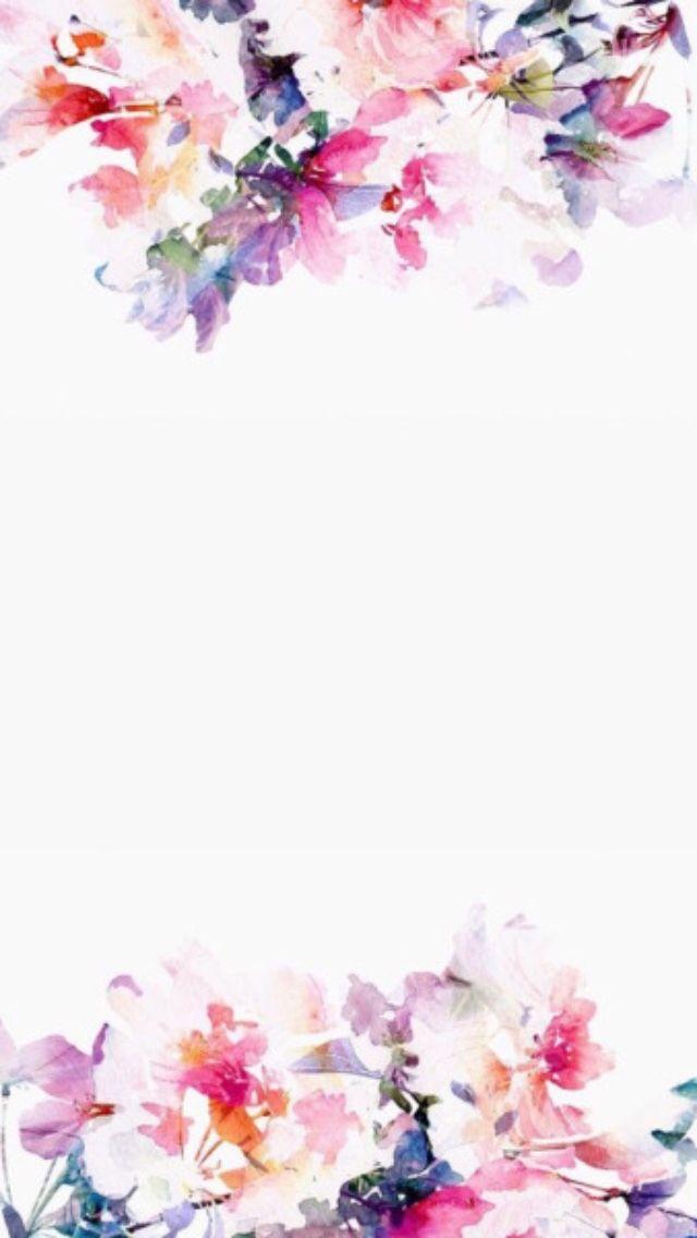 Pin De Nusrah Quludh Em إطارات فخمة Papel De Parede Estampa Floral Aquarela Floral Fundo Vintage