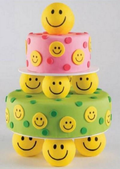 This happy cake recipe is sure to put a smile on everyone's face.