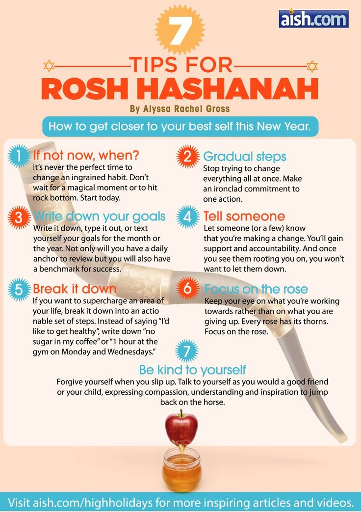 7 Tips for Rosh Hashanah