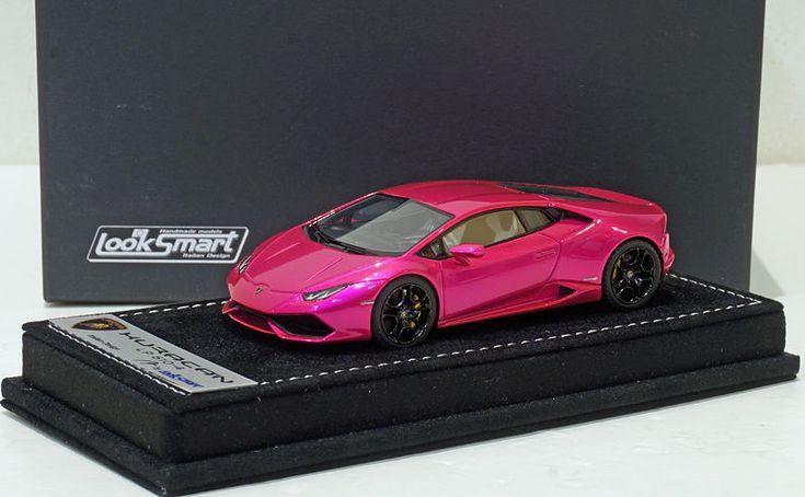 awesome Awesome Looksmart 1/43 Lamborghini Huracan LP610-4 Flash Pink Alcantara Base 2018