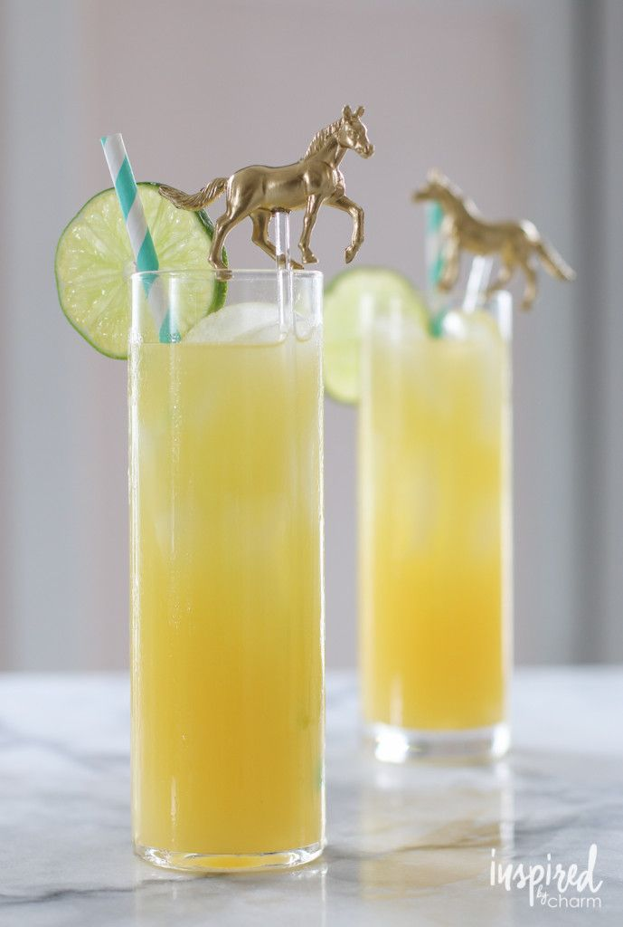 Black-Eyed Susan Cocktail - it's the official drink of Preakness!  / Kentucky Derby Cocktail Recipe