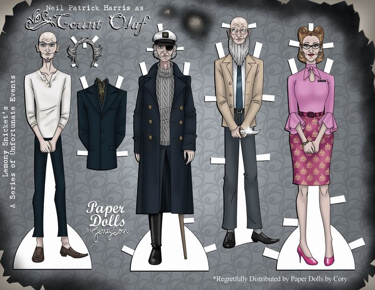 The Best Printable Count Olaf Paper Doll is Free