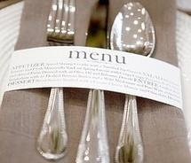 Love this idea for menus