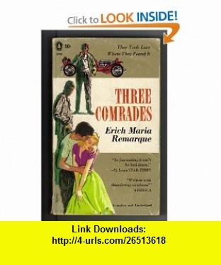 7 best cheap ebook images on pinterest pdf tutorials and book three comrades erich maria remarque asin b0011227n4 tutorials pdf fandeluxe Image collections