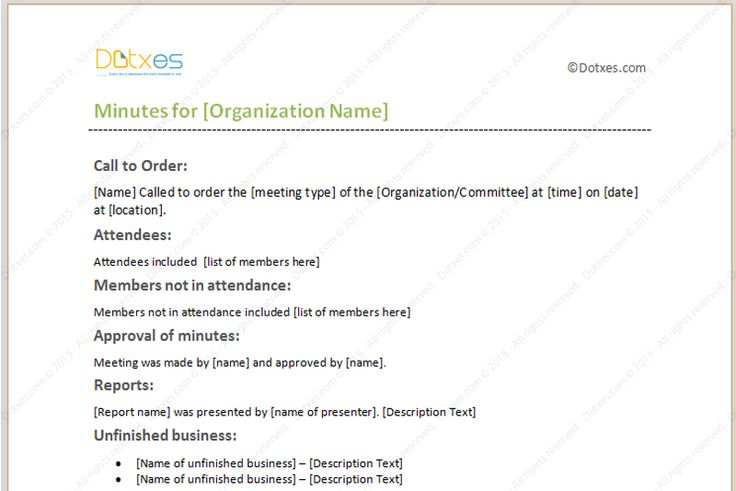 Meeting-minutes-template with formal format (featured-image)