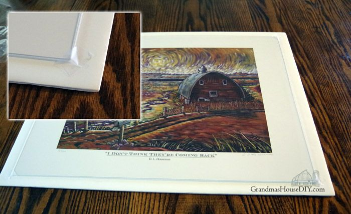 Building a frame out of barn wood and plexi glass for artwork, farmhouse wall art, wood working, how to, build, diy, do it yourself, farmhouse hens decorate