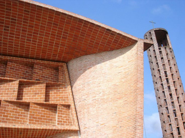 Eladio Dieste exceptional work is the 1960 Church of Christ the Worker (Church of Christ the Worker and Our Lady of Lourdes) in Estación Atlántida, Uruguay