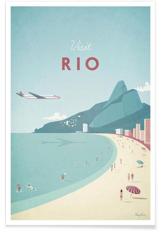 Rio als Premium Poster von Henry Rivers | JUNIQE