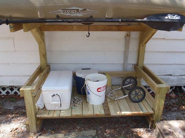 Kayak storage rack plans woodworking projects plans for Plan storage racks