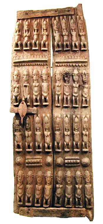 Africa carved wood dogon door from mali jembetat for Wood doors south africa