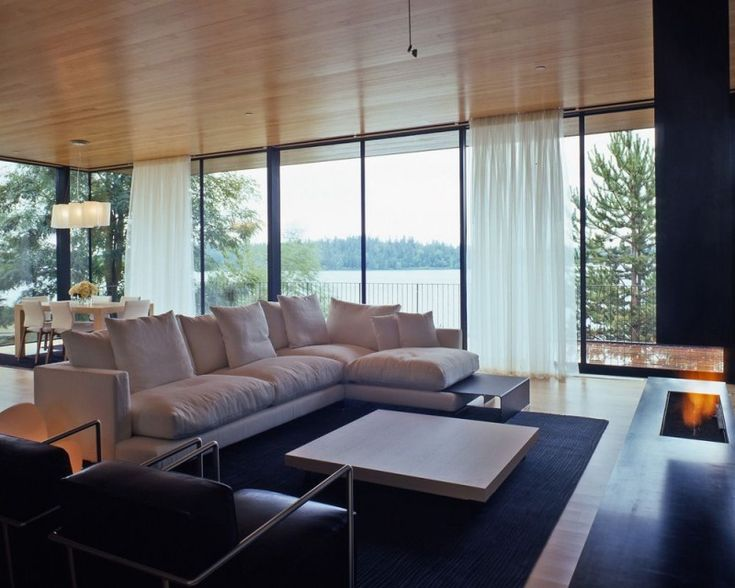 Living Room | Courtyard House on a Steep Site in Washington by Hutchison & Maul |