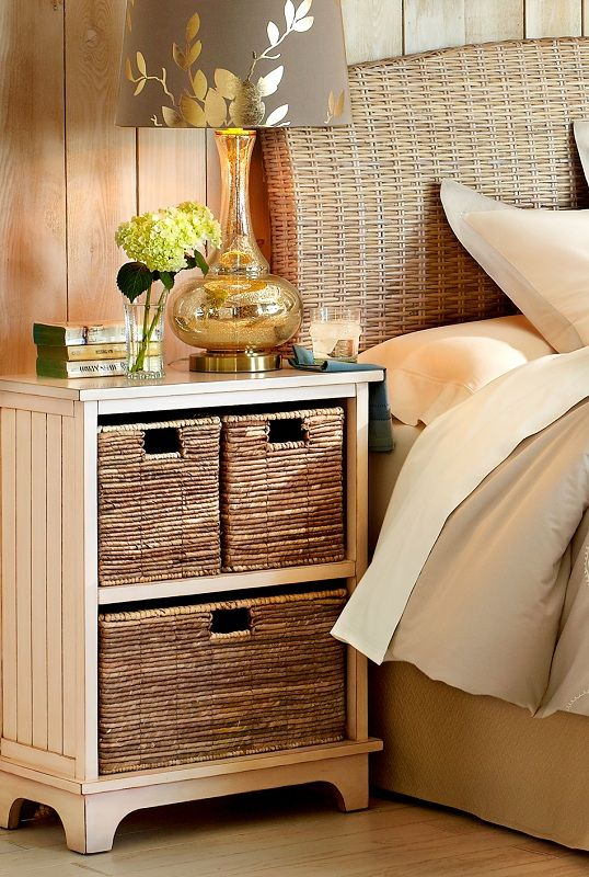 Because you're resourceful, you can repurpose a storage piece—like this chest that's also the perfect size for a nightstand