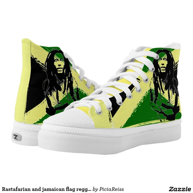 Rastafarian and jamaican flag reggae pattern shoes printed shoes