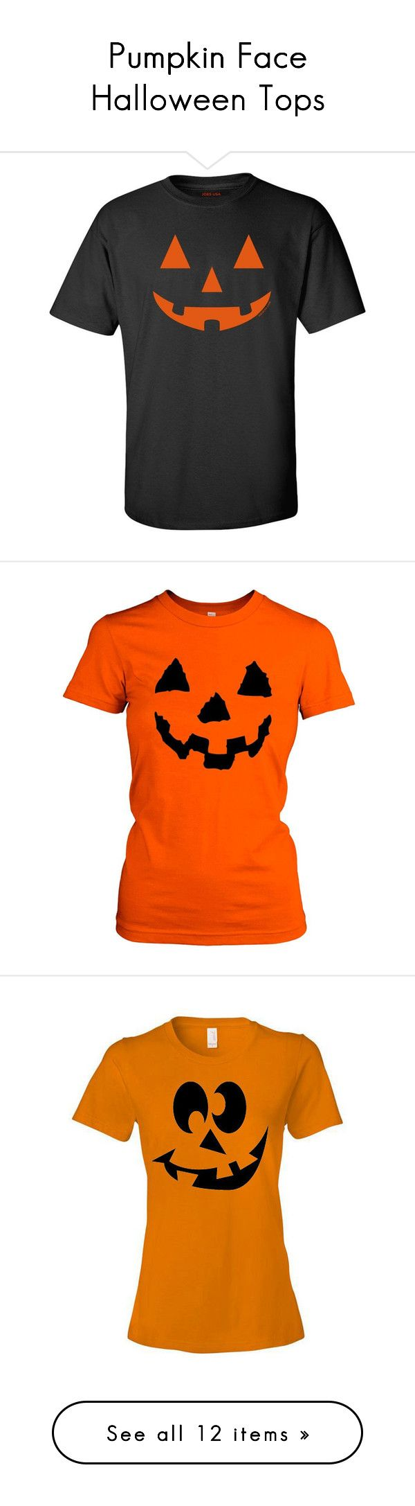 """""""Pumpkin Face Halloween Tops"""" by chathurika-gamage ❤ liked on Polyvore featuring costumes, pumpkin costumes, pumpkin halloween costume, tops, t-shirts, halloween, lullabies, black, women's clothing и slim fit t shirts"""