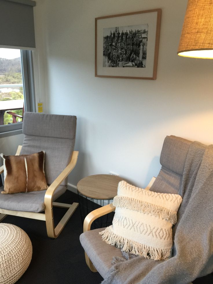 Yowaka River Cottage Style Grey Armchairs Reading Chair Relax Sunroom Minimal Styling