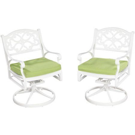 Home Styles Biscayne Swivel Chair, White