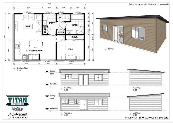 Practical and intelligent layout with free flowing living area, a spacious bedroom, ergonomic bathroom, large laundry and plenty of storage. This design takes the humble granny flat to the next level.