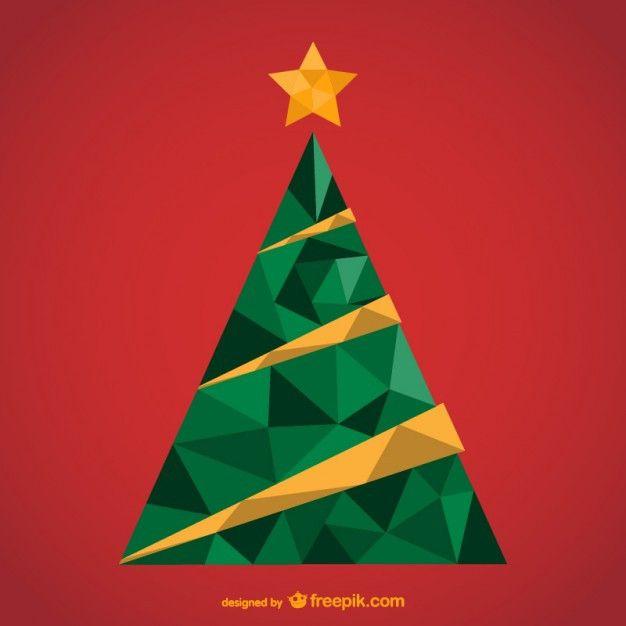 Polygonal Christmas Tree Free Vector Christmas Tree Logo Christmas Tree Poster Tree Free