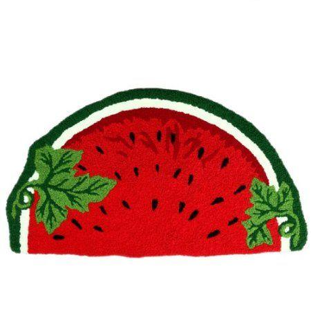 Amazon.com: Rugs Of Sliced U0026 Red Watermelon Shape: Home U0026 Kitchen