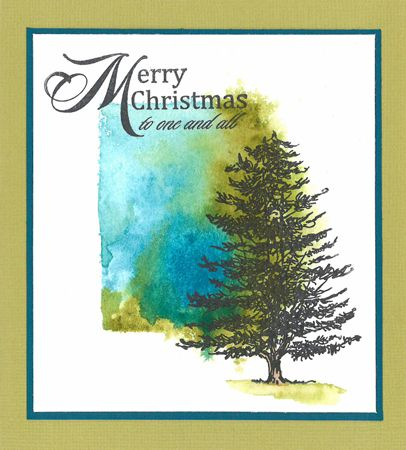 Stamp-it Australia: 4988E Conifer Large; siset088 Christmas Wording - Card by Susan