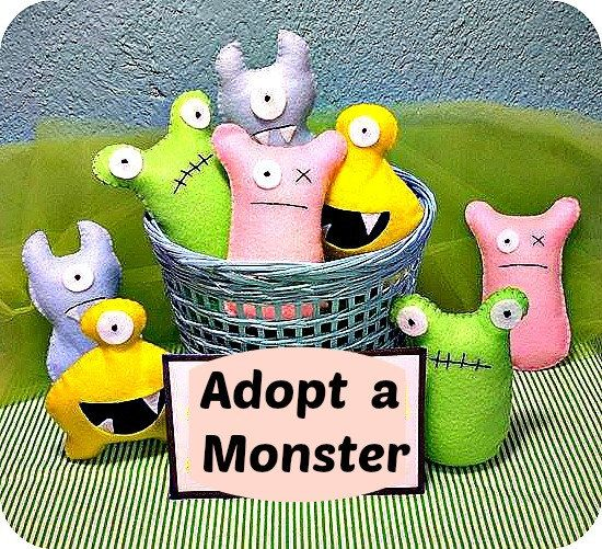 Adopt a monster  party  cute monsters     by littlesbyBella