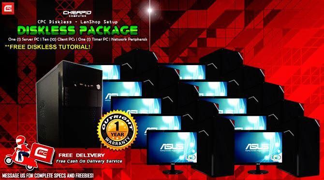 "PLEASE READ CAREFULLY. SOME OF YOUR QUESTIONS MIGHT BE ANSWERED ON POST'S DESCRIPTION! Introducing our new CPC Diskless - AMD LanShop Setup! AMD's TOTL APU Kaveri Processor bundled with this setup for an introductory price! Get your business started with these packages setup for easy and convenient shop. #CheapidAko Covered with ""CPC Palit Agad Warranty System"" offers 1 Year Outright Replacement Warranty. ** FREE DELIVERY WITHIN METRO MANILA ** Get all of these following items: - One (1)…"