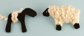 For Easter, make a popcorn or cotton ball lamb craft with your kids! lamb pattern and how to do it..