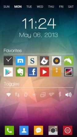 Minimal MIUI Styled Android Homescreen - mycolorscreen.com