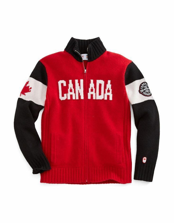 Sochi 2014 Men's Lambswool Zip Canada Sweater   #HBCOlympics