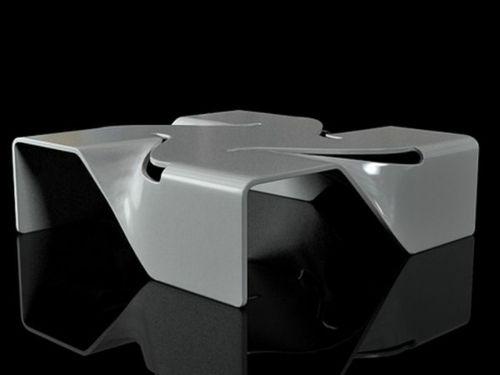 Moderne attraktive Couchtische fürs Wohnzimmer – 50 coole Bilder - trendy eigenartige kaffeetische grau monochromatisch platten