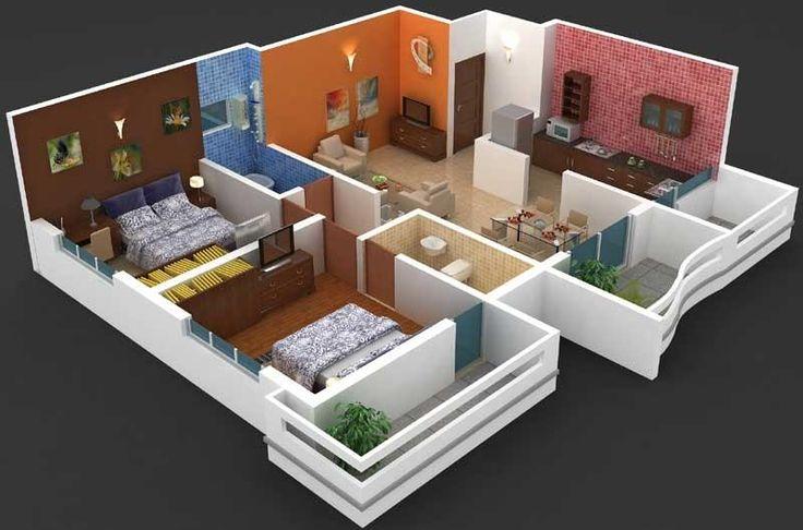 Interior Designs 2bhk Flat | Smart House Ideas | Flat ...