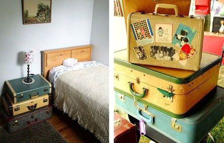 Quoi faire de nos vieilles valises qui encombrent nos greniers. Découvrez les idées de recyclage pour transformer vos vieilles valises en objets tendance, ou comment leur donner une deuxième vie à la maison.. - Pourquoi ne pas tranformer vos vieilles valises en sofa pour chat. Site : Maison.com...