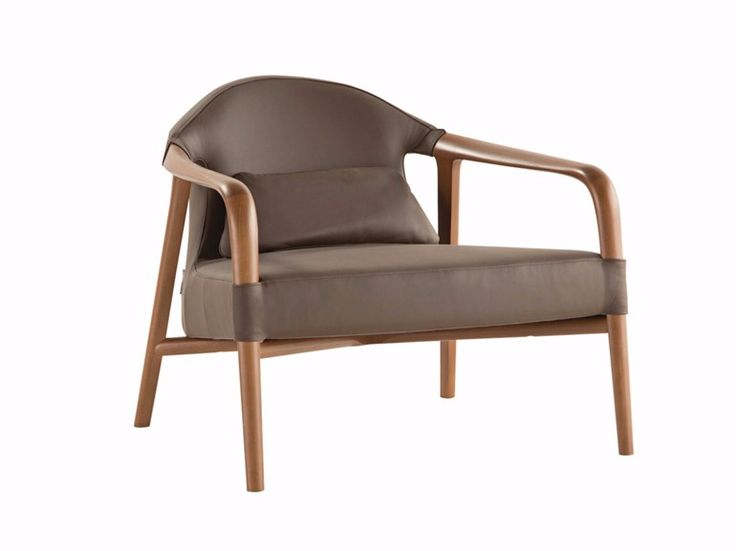 Fabric armchair with armrests TEMPUS by ROCHE BOBOIS design Simon Reynaud