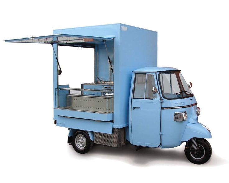 Ape snack e caffè nell'aeropuerto di Ginevra. Piaggio Ape Bar per Street Food e vendita di specialità culinarie. Richiedi preventivo prezzi online.