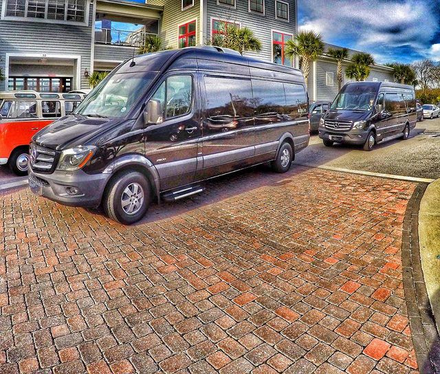 Charleston SC black car service made simple with our Mercedes Sprinter Vans. Each seating up to 14-passengers, combine multiple vehicles for larger groups. Contact Carolina's Executive today for all of your limousine and car service needs. 843.564.3456